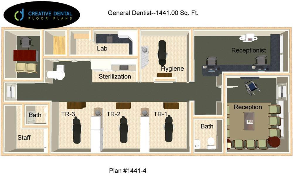 Creative Office Floor Plans: General Dentist Floor Plans