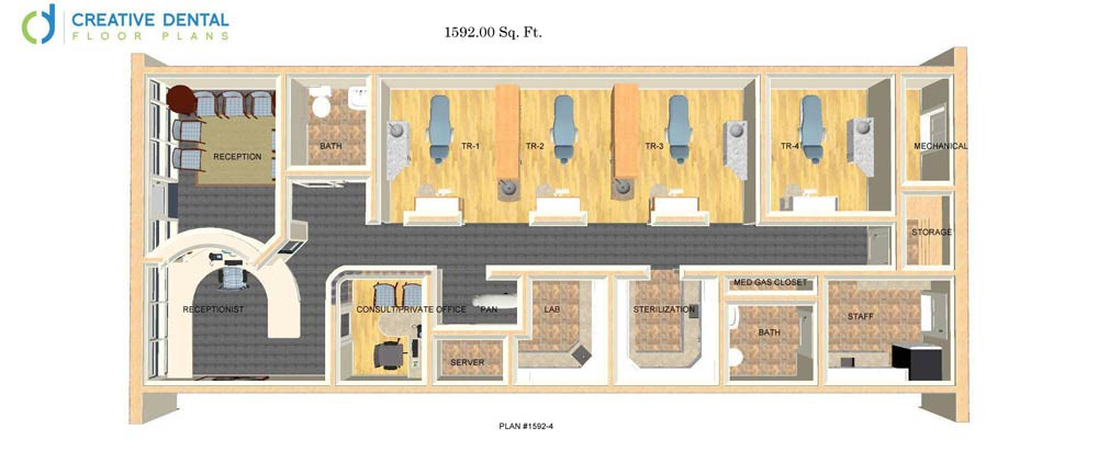 Dental office floor plan samples for Creative floor plans
