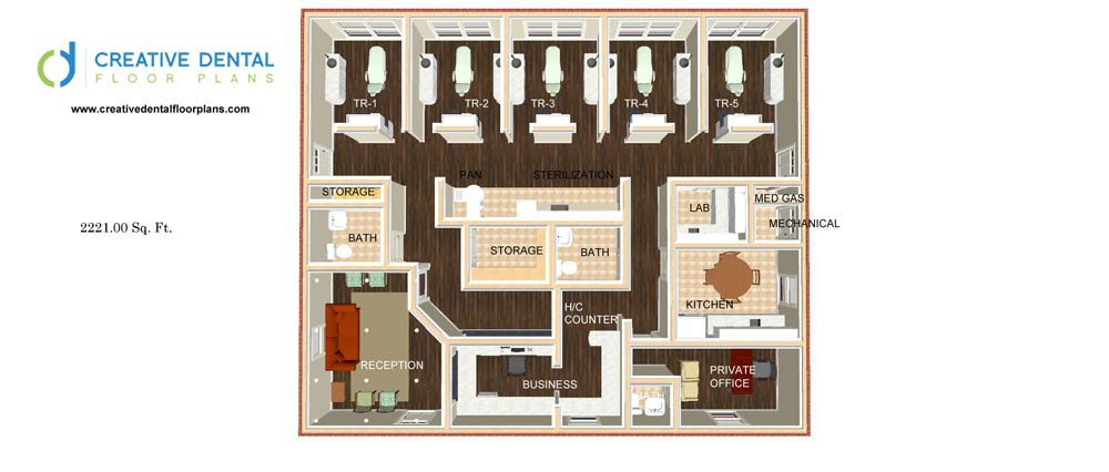 dental office floor plan design