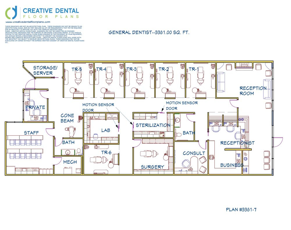 3 D Dental Office Design Floor Plan General Dentist 3381.00 Sq. Ft.  Plan  #3381 7 ...