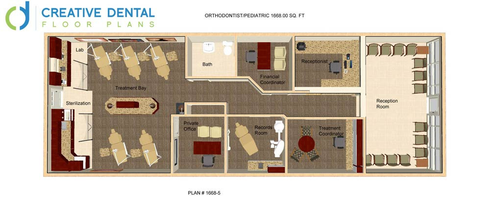 Creative dental floor plans orthodontist floor plans for Office design 1000 square feet