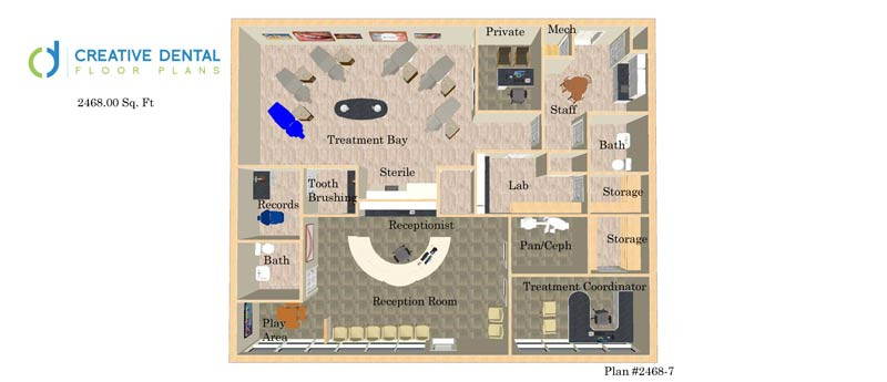 dental office design pediatric floor plans pediatric. Interesting Pediatric 3d Dental Office DesignFloor PlanOrthodontist246800 Sq Ft  And Design Pediatric Floor Plans