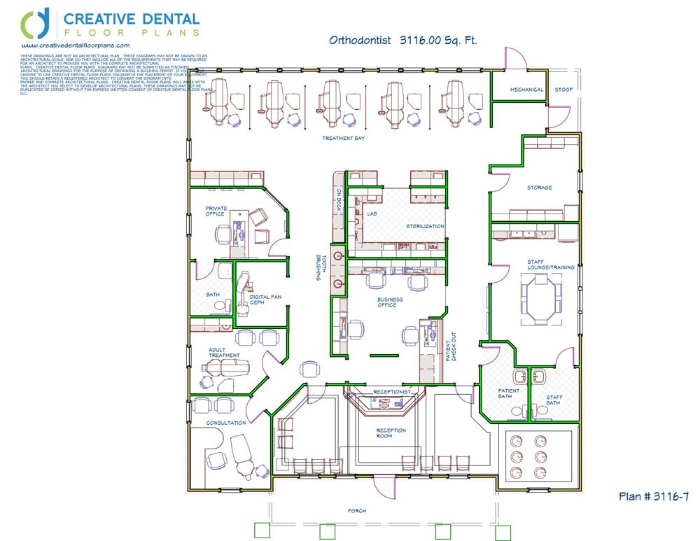 Creative dental floor plans orthodontist floor plans for Office design floor plan