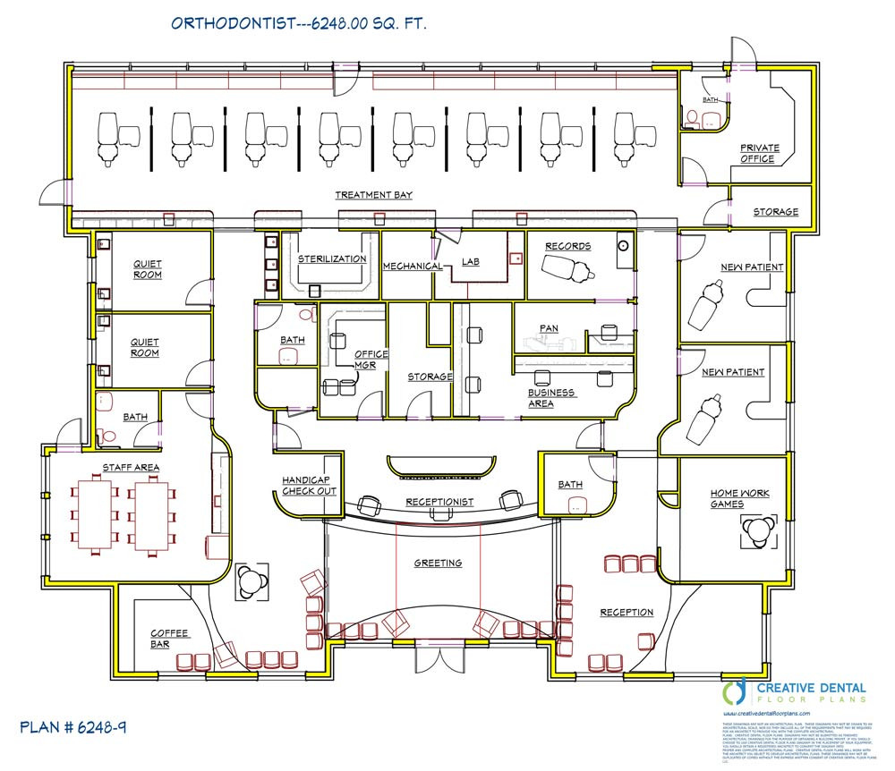 creative dental floor plans orthodontist floor plans