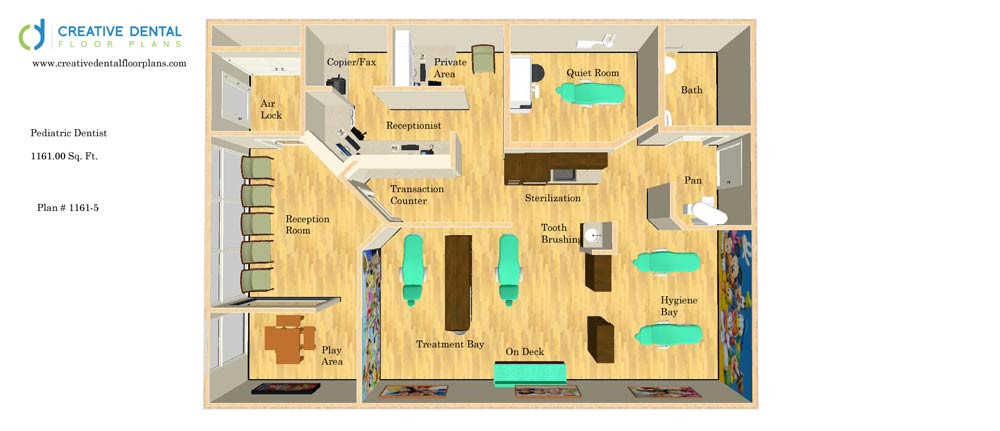 Creative dental floor plans pediatric floor plans for Orthodontic office design floor plan