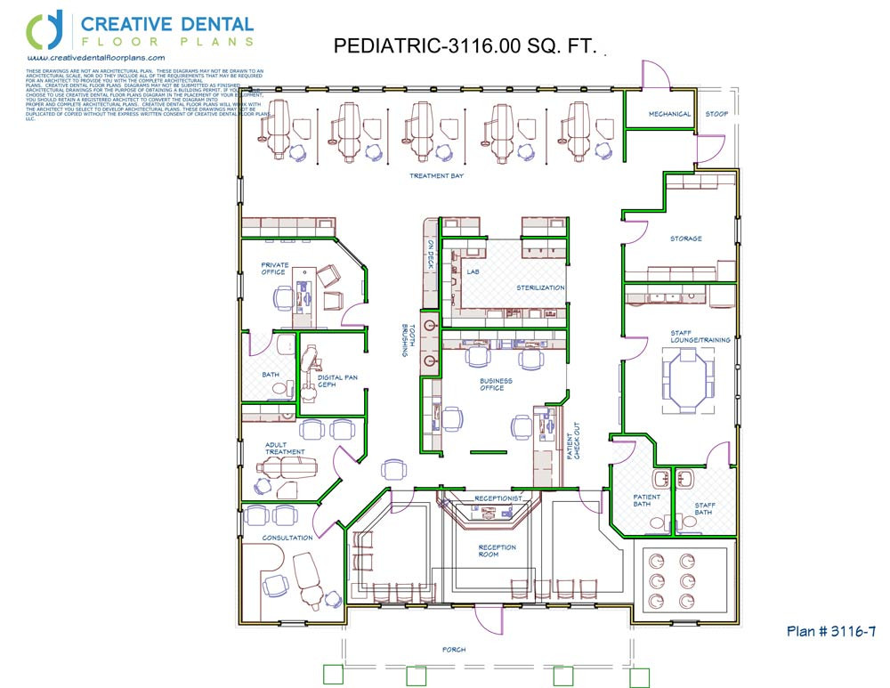 Creative dental floor plans pediatric floor plans for Office plan design