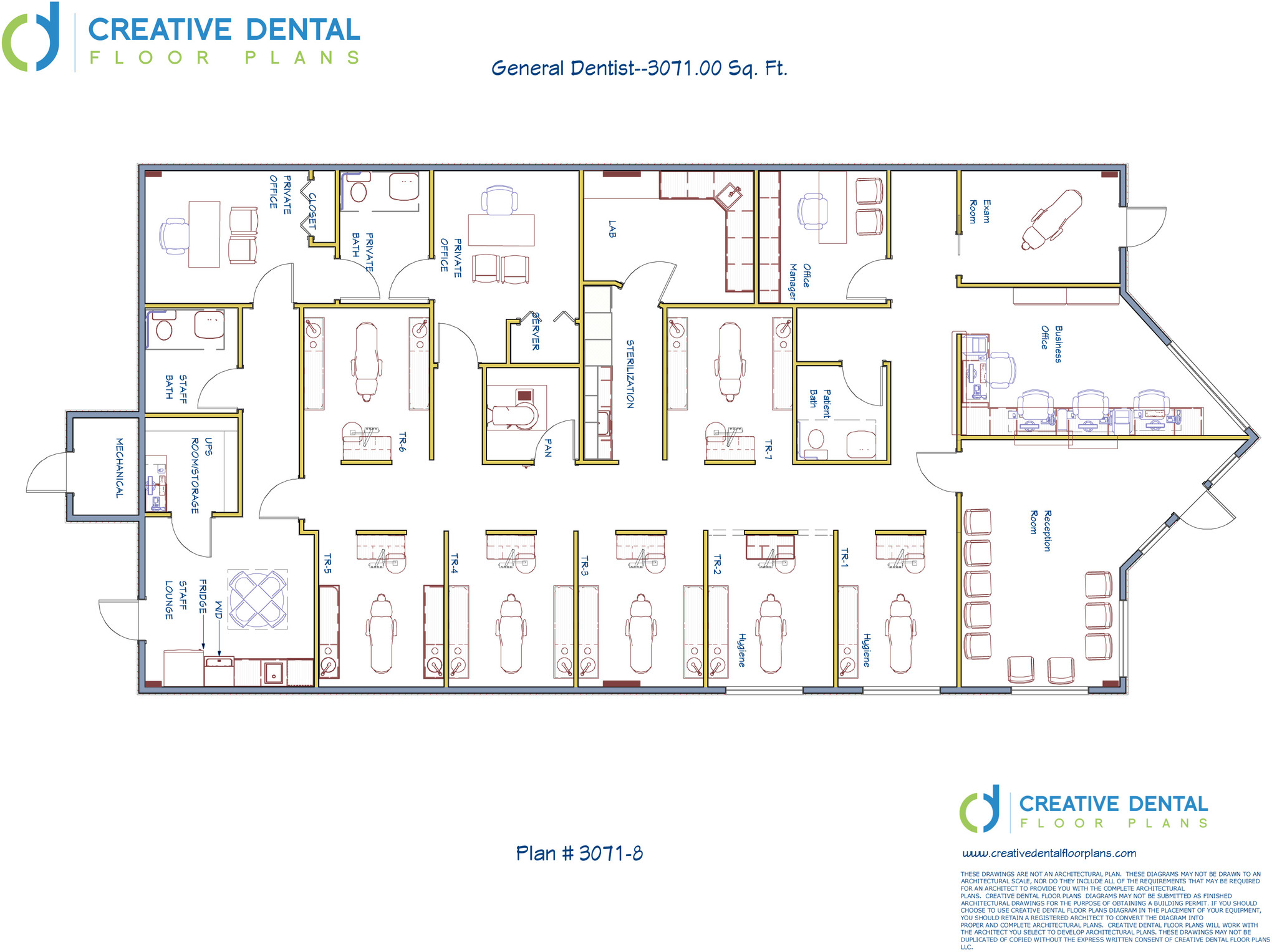 Creative dental floor plans strip mall floor plans for Office design floor plan
